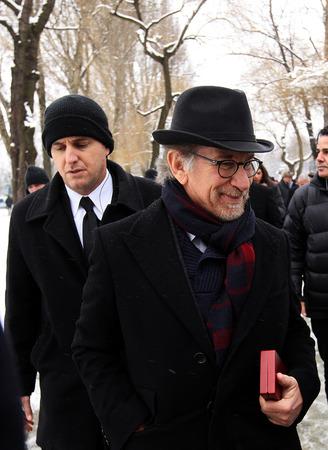 screenwriter: Auschwitz, in Polonia - 27 gennaio 2015: 70 � anniversario della liberazione di nazista concentraction tedesco e campo di sterminio di Auschwitz