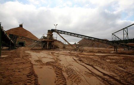 quarry inert materials, for the construction industry 免版税图像