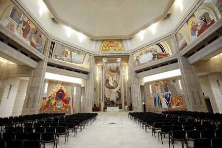 institute is holy: LAGIEWNIKI, KRAKOW, POLAND- APRIL 24, 2014: The centre of Pope John Paul II