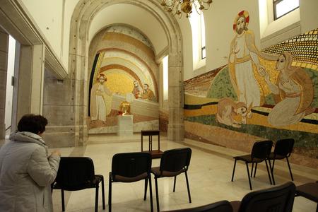 institute is holy: LAGIEWNIKI, KRAKOW, POLAND- APRIL 24, 2014: The centre of Pope John Paul II