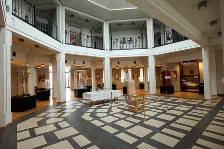 pope: LAGIEWNIKI, KRAKOW, POLAND- APRIL 24, 2014: The centre of Pope John Paul II