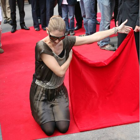 KRAKOW, POLAND - JUNE 28: Celine Dion in Krakow where she was honored with the first star on the Krakow Walk of Fame, Krakow, Poland on June 28, 2008.