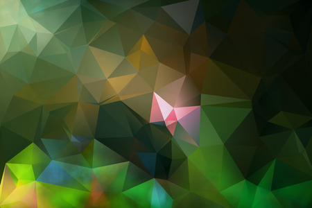 triangle mosaic background with transparencies in green