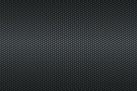 Black honeycomb Carbon fiber background, black texture