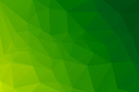 green and yellow abstract polygonal background Stock Photo