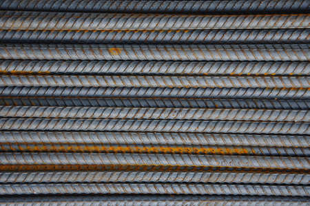 steel rebar sort on the ground. photo