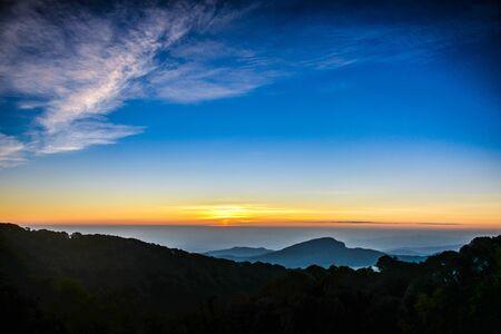mountain sunset: mountain sunset