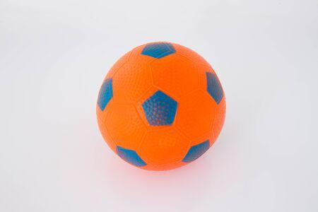 rubber ball: orange rubber ball