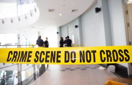 犯行現場 写真素材