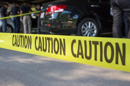 car crime: crime scene for vehicle search