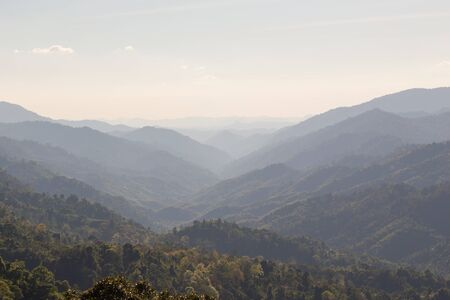 plentifully: range of mountain at northern of Thailand Stock Photo