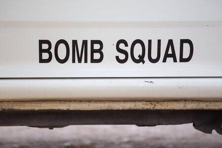 squad: bomb squad unit Stock Photo