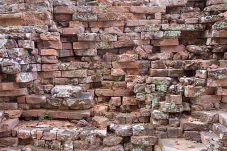 rung: ruins of brick in Phanom Rung castle historical park texture