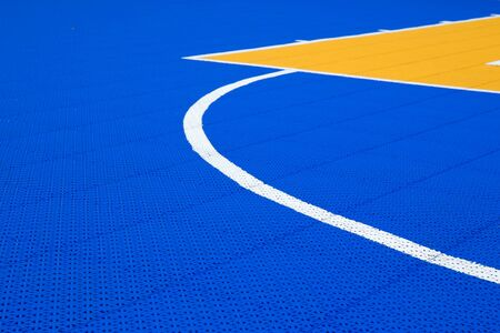 outdoor basketball court: sign and line with floor texture of pvc outdoor basketball court