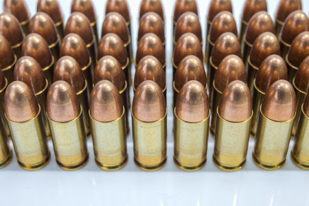 row of 9 mm bullet