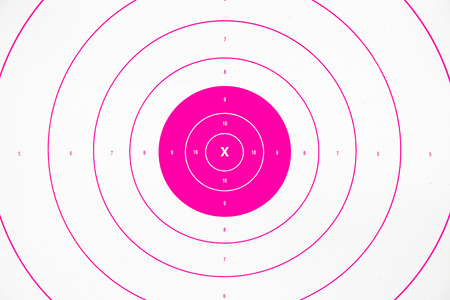 clean and colorful pink paper bullseye target Stock Photo