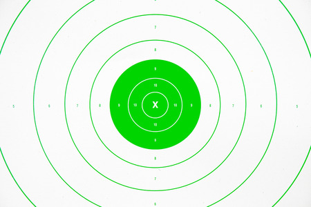 clean and colorful  green paper bullseye target Stock Photo