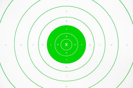 clean and colorful  green paper bullseye target Reklamní fotografie
