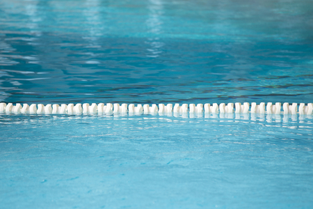 float lane of swimming pool for racetrack texture and background with copy space
