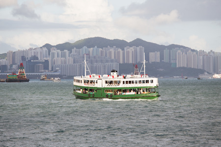 Hong Kong S.A.R.,China - September 24, 2017: The Star Ferry is ferry services between Kowloon and Hong Kong Island.Star Ferry is a world-famous sightseeing trip across Victoria Harbour
