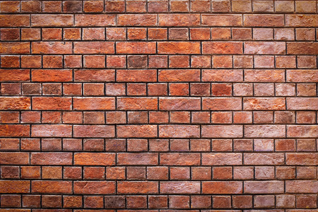 vintage red brick wall texture and background
