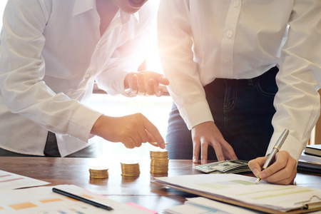 Business meeting investment finance concept. Stock Photo