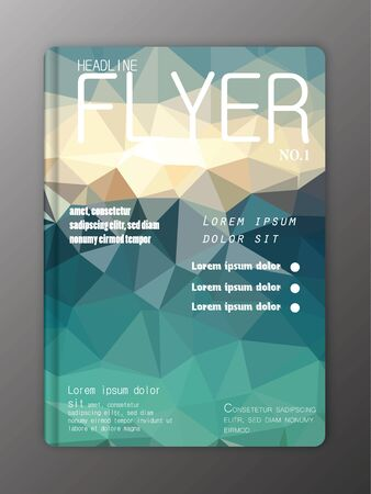 flyer layout: Brochure Flyer Design Layout Templates. Abstract polygonal