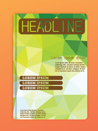 flyer layout: Brochure Flyer Design Layout Templates. Abstract polygonal space low poly