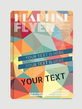 a4: Flyer design templates. A4 Illustration