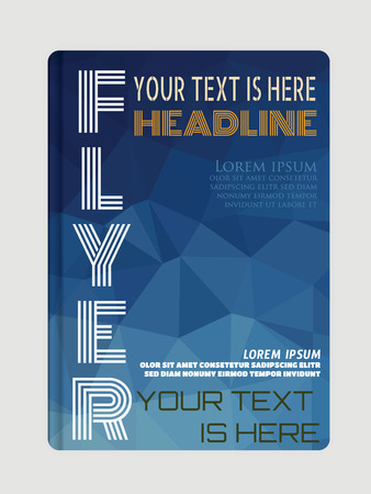 web page: Flyer, brochure or magazine cover template