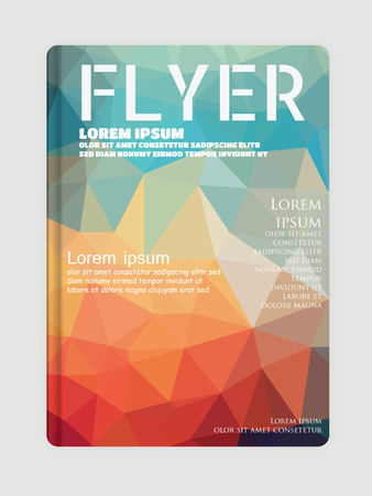 page layout: Vector Flyer, brochure Template for Fashion geometric abstract