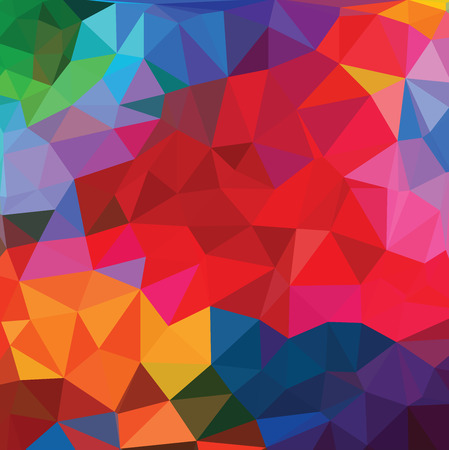 hexagon background: Abstract triangle background Illustration
