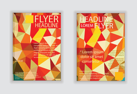 size: Flyer graphic design Layout vector template in A4 size Illustration