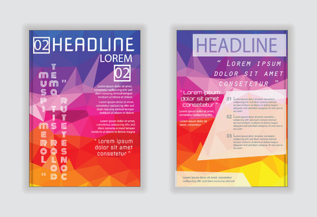 size: Abstract Brochure Flyer design Layout vector template in A4 size