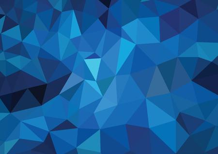 Sfondo di mosaico poligonale di luce blu, illustrazione vettoriale, modelli di progettazione di affari Archivio Fotografico - 45314714