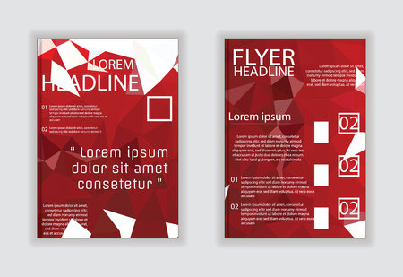 size: Modern abstract template layout brochure, magazine poster in A4 size