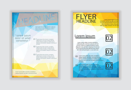 broadside: Vector business brochure flyer stationery with white background in size a4