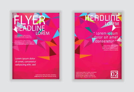 Triangle Brochure Flyer design Vector Layout in A4 size
