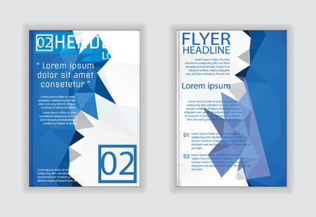 size: brochure flyer design layout template in A4 size, vector eps10