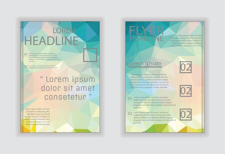 broadside: Vector business brochure flyer template or corporate banner design in A4 size. Modern abstract web, poster, brochure Illustration