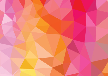 Vivid color low poly mosaic background Stock Illustratie