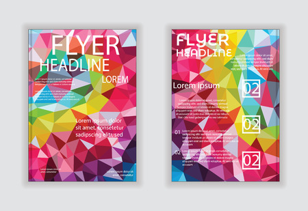 size: Flyer design vector template in A4 size Modern