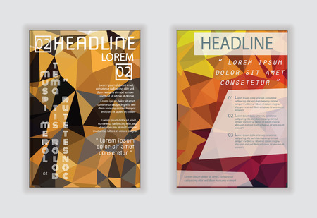 size: abstract polygon design vector template layout for magazine brochure flyer in A4 size. Illustration