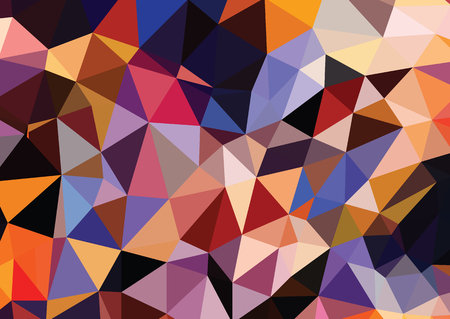 geometric style: Abstract colored bright summer background, triangular geometric style