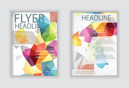 design vector template layout for magazine brochure flyer booklet cover annual report in A4 size