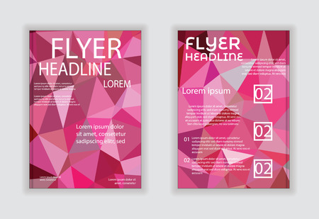 book concept: Abstract vector business flyer brochure template. EPS10 Illustration