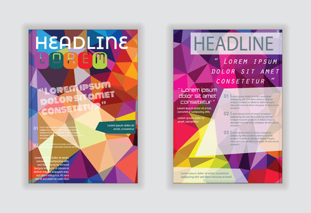 blank magazine: Flyer abstract design. Brochure cover, poster, banner, booklet vector template. Illustration
