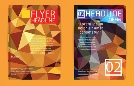 booklet design: Template polygon abstract design magazine brochure flyer booklet cover annual report vector Proportionally A4