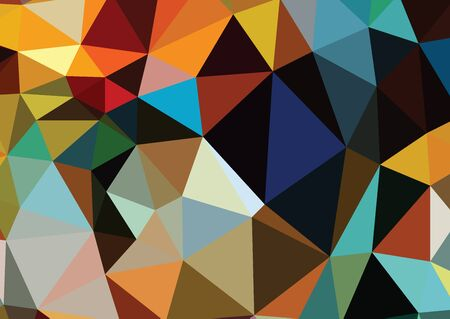 wall decor: Consisting abstract background consisting of triangles vector illustration Illustration