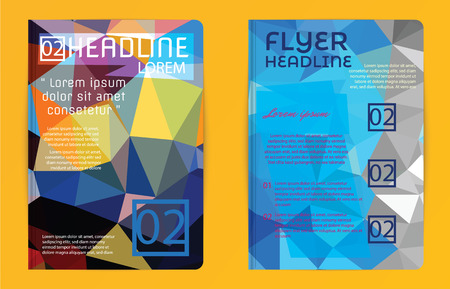 abstract template: Template design Abstract polygon design vector for magazine brochure flyer booklet cover annual report in Proportionally A4